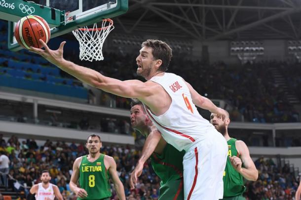 Pau Gasol has been giving it his all for Spain. Photo: FIBA