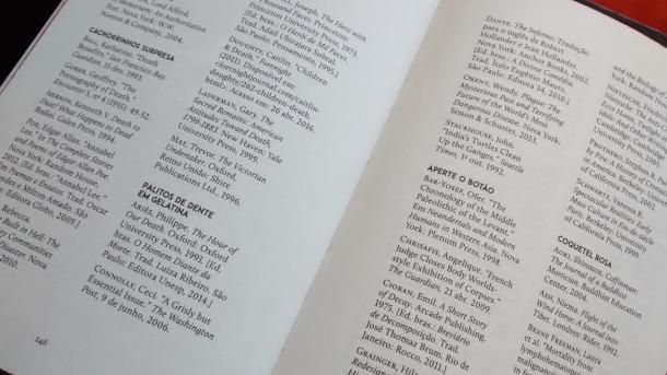 Referências bibliográficas. Um diferencial do livro. (Foto: Fernando Rhenius)