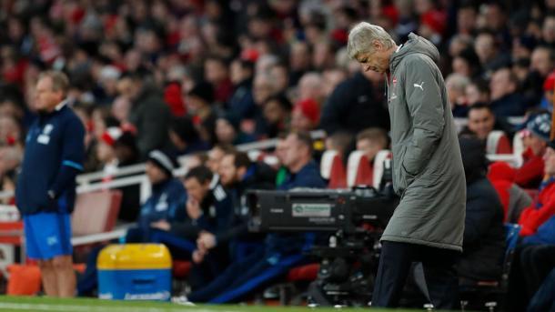 Wenger non pienamente soddisfatto dei suoi in panchina, www.premierleague.com