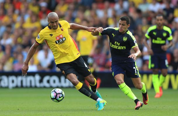 Kaboul frente al Arsenal. Foto: Premier League