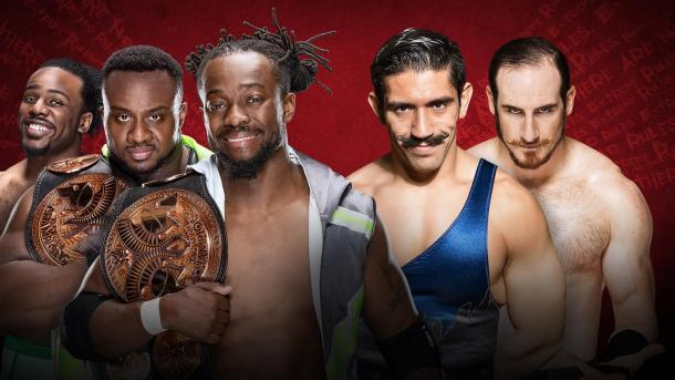 The New Day look to send the Vaudevillains back to the