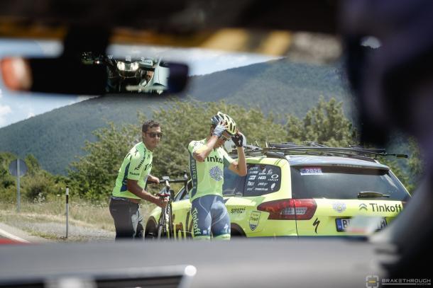 Contador abandonaba en la novena etapa. | Foto: Brakethrough Media