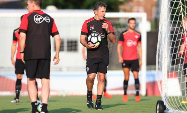 Saint's training under the watchful eye of Puel | photo: Daily Echo