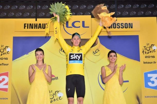 Froome in giallo. Fonte foto: letour.fr