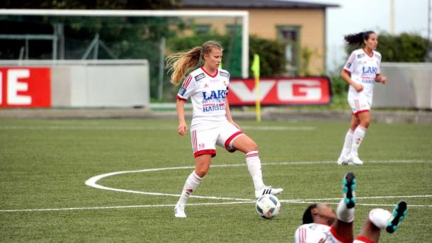 Cesilie Andreassen in action for Medkila | Source: ht.no