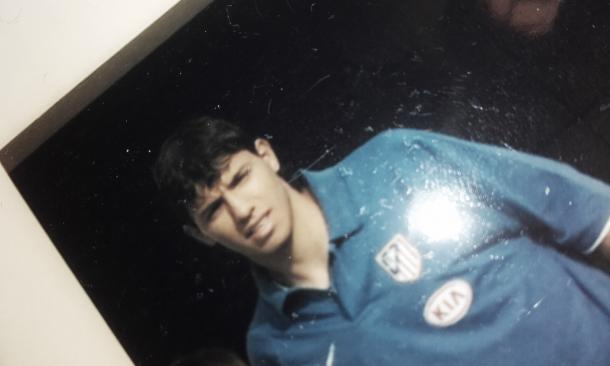 Kun Agüero, en la foto que tomé en 2006