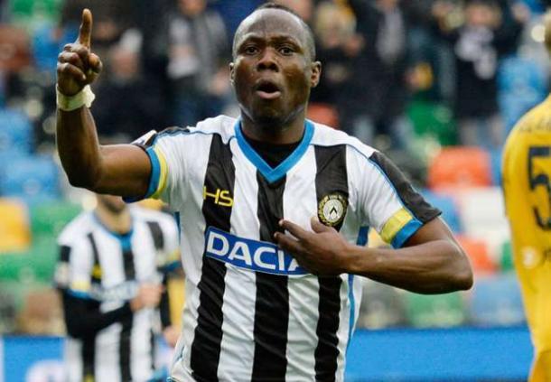 Badu esulta per un gol al Verona due stagioni fa. Fonte: http://www.primocanale.it