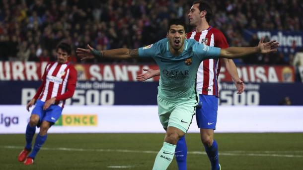 Suarez ha realizzato un capolavoro contro l'Atletico, proprio qui al Calderon un mese fa. Fonte foto: it.Eurosport.com