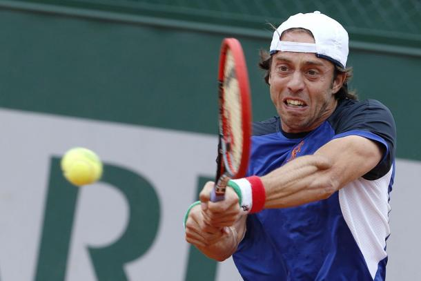It was a day to forget for Lorenzi as he only managed to win 28 points in the match (34%). Photo: Getty