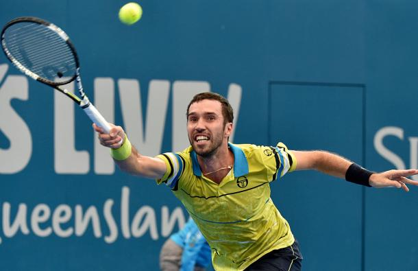 A day of missed chances for the qualifier, who maintined a high level of tennis throughout. Photo: Getty