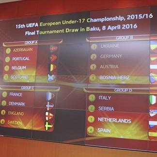 The UEFA U17 Euros Group Stage draw | Photo: UEFA.com