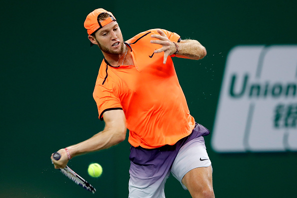 Jack Sock hits a forehand return (Photo: Lintao Zhang/Getty Images)