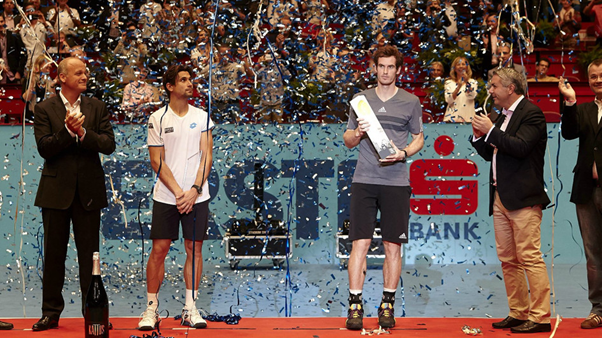 Ady Murray with the Vienna trophy in 2014 (Photo: ErsteBankOpen)