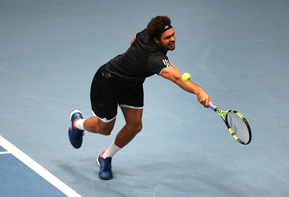 Jo-Wilfried Tsonga in action during the Tie Break Tens (Photo: Jordan Mansfield/Getty Images)
