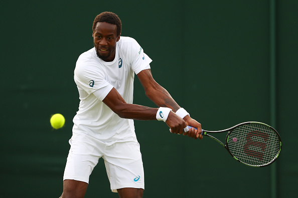 Gael Monfils in action at Wimbledon during his loss to Jeremy Chardy (Photo: Julian Finney/Getty Images)