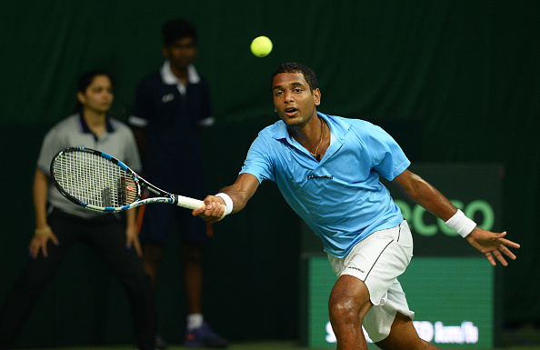 Ramkumar Ramanathan, Chennai Open wildcard in Davis Cup action against Spain (Photo: Sajjad Hussain/Getty Images)