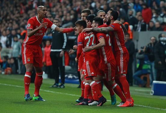 Benfica empató a 3 contra Besiktas. Foto: @slbenfica