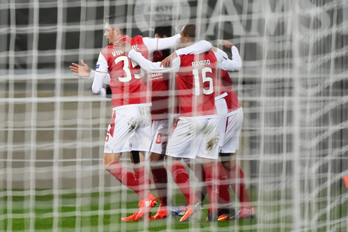 Braga empató en Belgica en la Europa League. Foto: @SCBragaOficial