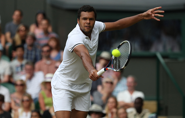 Jo-Wilfried Tsonga in action against Andy Murray at Wimbledon (Photo: Stephen White/GEtty Images)