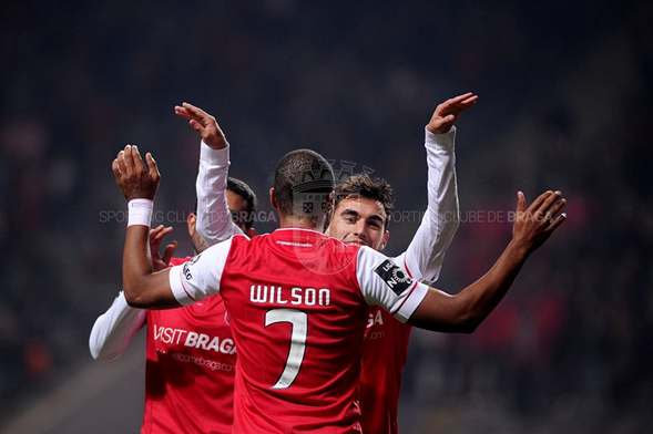 Wilson celebrando el gol. Foto: @scbragaoficial