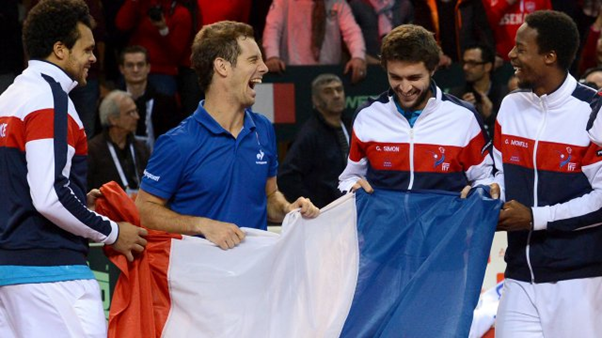 The modern day Four Musketeers during Davis Cup duty (Photo:  MAXPPP)