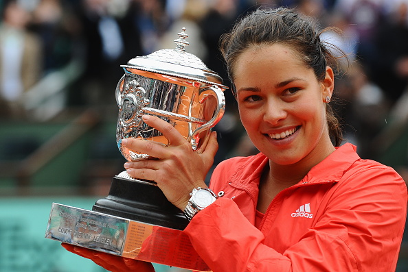 Ana Ivanovic in 2008 after winning the French Open (Photo: Liewig Christian/Getty Images)
