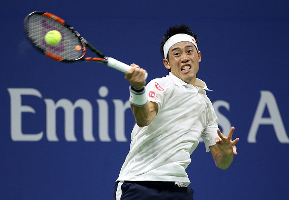 Kei Nishikori during his semifinal match at the US Open, where he lost to Stan Wawrinka (Photo: Jean Catuffe/Getty Images)