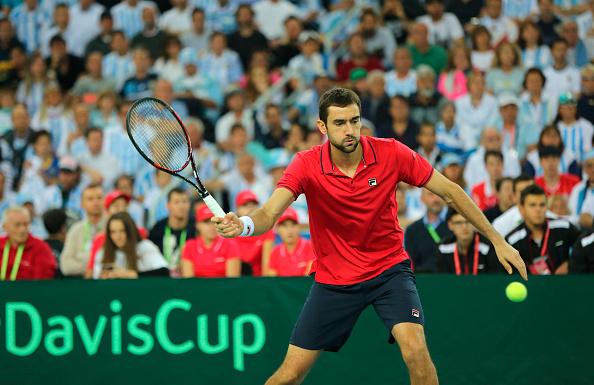 Marin Cilic during thew Davis Cup final (Photo: Cezaro de Luca/ Getty Images)