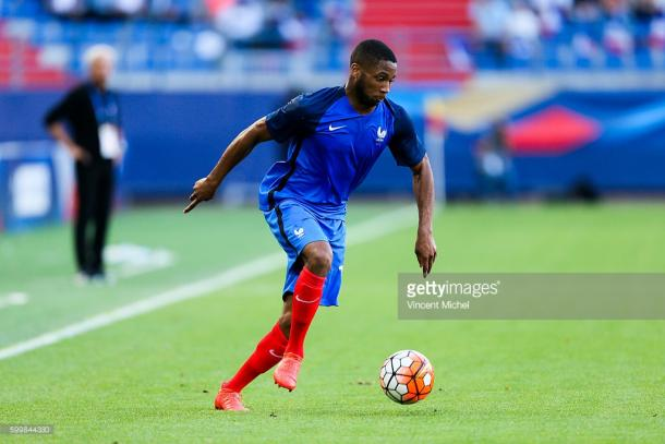 Coco in action for France Under-21s. | Photo: Getty/Vincent Michel/Icon Sport