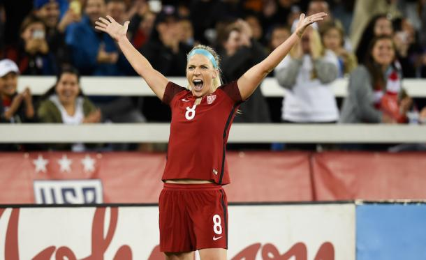 Julie Ertz became a crucial playmaker and scorer in 2017 as a defensive midfielder | Source: Brad Smith - U.S. Soccer/ISI Photos
