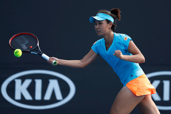 Peng Shuai in action today | Photo: Jack Thomas/Getty Images AsiaPac