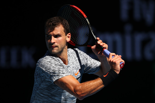 Dimitrov dominated the second set (Photo by Clive Brunskill/Getty Images)