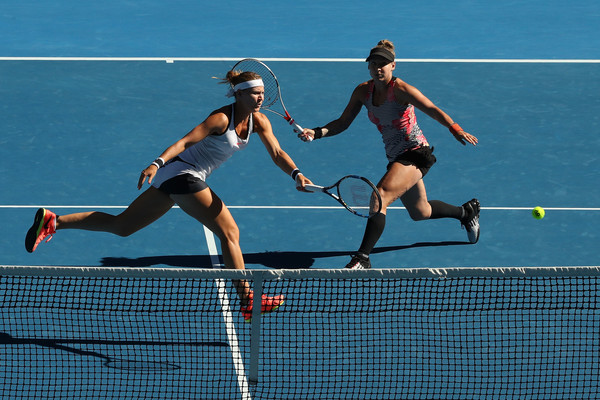 Mattek-Sands and Safarova played some great net shots today | Photo: Cameron Spencer/Getty Images AsiaPac