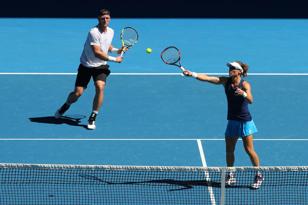 Stosur and Groth in action | Photo: Cameron Spencer/Getty Images AsiaPac
