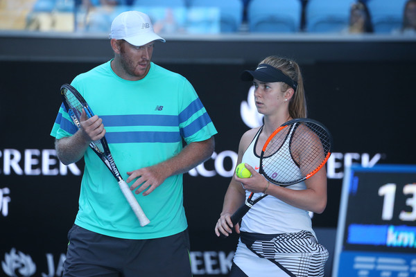 Svitolina and Guccione in action | Photo: Pat Scala/Getty Images AsiaPac