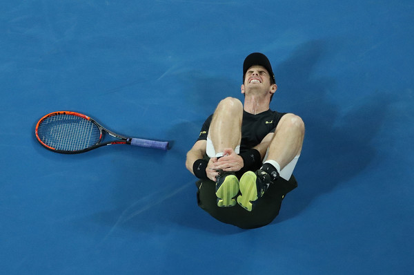Murray rolled his ankle during the third set (Photo by Scott Barbour/Getty Images)