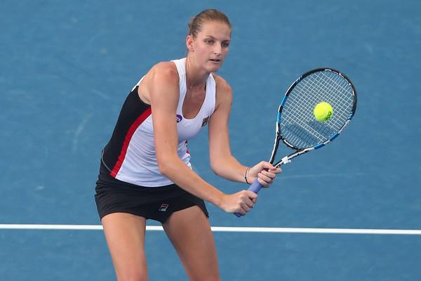 Pliskova in her match against Putintseva | Photo: Chris Hyde/Getty Images AsiaPac