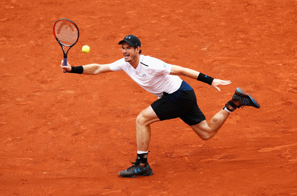 Murray strikes a forehand  (Photo by Adam Pretty/Getty Images)