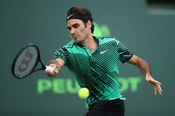 Roger Federer en la pista del Miami Open l Foto: Zimbio.com