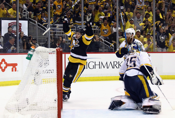 Guentzel's goal was the game winner after the Penguins had not registered a shot on goal since the first period/Photo: Bruce Bennett/Getty Images