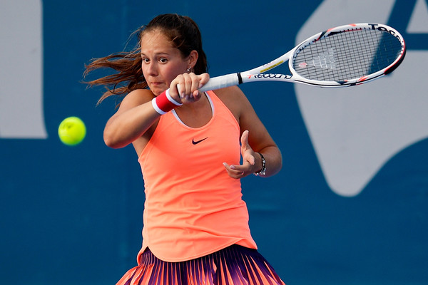 Kasatkina hits a forehand in today's match | Photo: Brett Hemmings/Getty Images AsiaPac