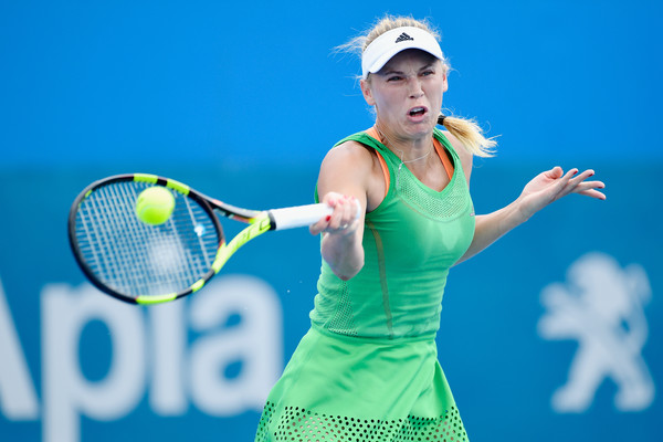 Caroline Wozniacki was dominating in her match today | Photo: Brett Hemmings/Getty Images AsiaPac