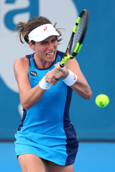 Konta in action today | Photo: Cameron Spencer/Getty Images AsiaPac