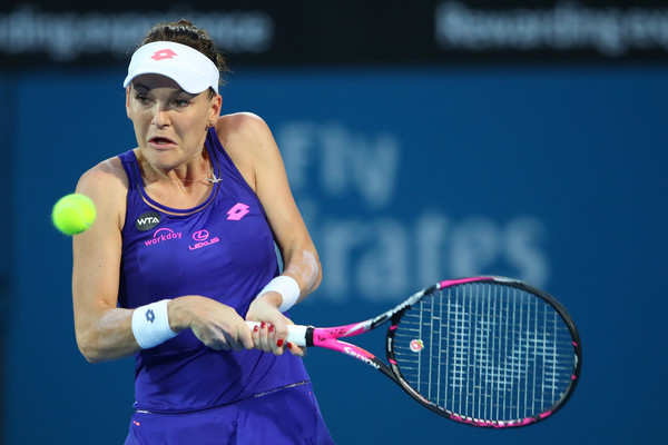 Agnieszka Radwanska in action today | Photo: Cameron Spencer/Getty Images AsiaPac