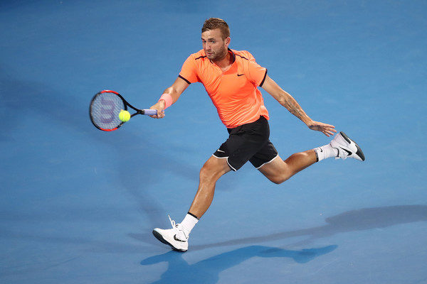 A dominant finish gave the Brit a place in his second ATP World Tour semifinal (Photo by Brendon Thorne/Getty Images)