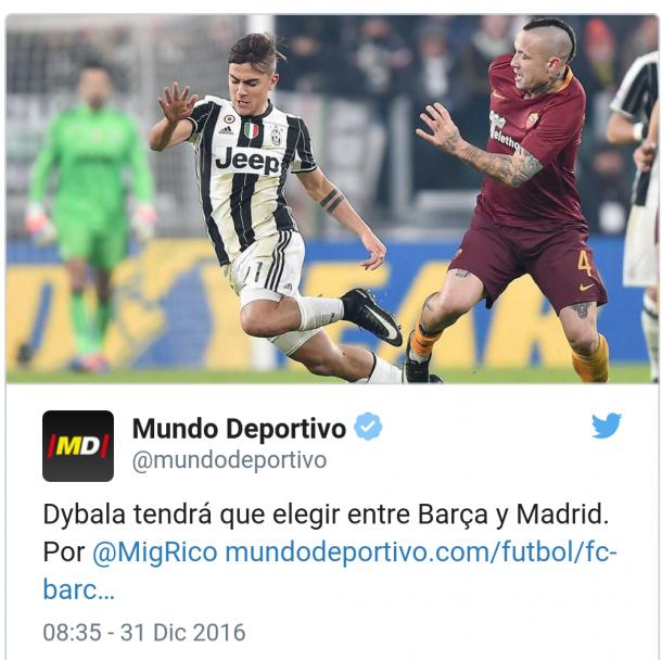 Calciomercato Juventus, Real in vantaggio sul Barça per Dybala