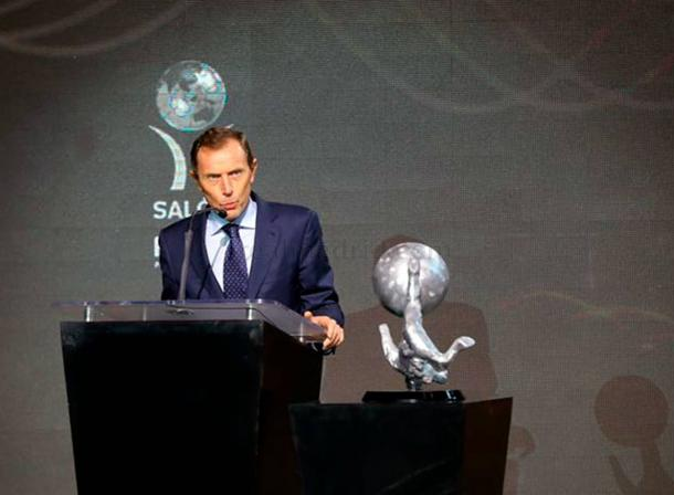 Emilio Butragueño en la ceremonia | Foto: Real Madrid