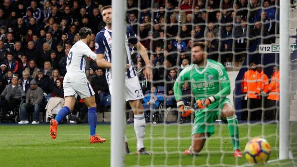 Morata abrió el marcador | Foto: Premier League.