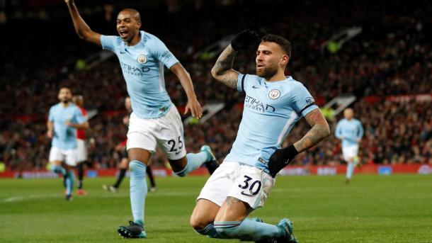 Otamendi le dio la victoria en Old Trafford | Foto: Premier League.