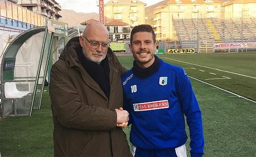 Catellani si presenta all'Entella: già un gol per lui con la maglia dei Liguri